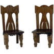 Star Novelty Works 1-1/4&quot; Pair of Chairs c1910 Dollhouse Furniture