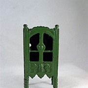"Kilgore 1/2"" Cast Iron Medium Green China Cabinet Dollhouse Furniture"