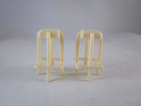 "Marx 1/2"" Rumpus Room Bar Stools Pair Dollhouse Furniture"