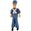 Flagg 3/4&quot; Policeman Dollhouse Doll