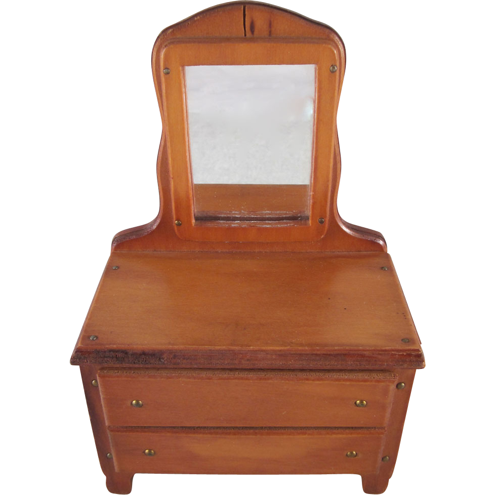 Wanner Grand Rapids 1 1 2 Dresser With Mirror Dollhouse Furniture From Milkweedantiques On