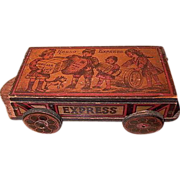 Wooden 'Hello Express' Candy Container Wagon c1920s