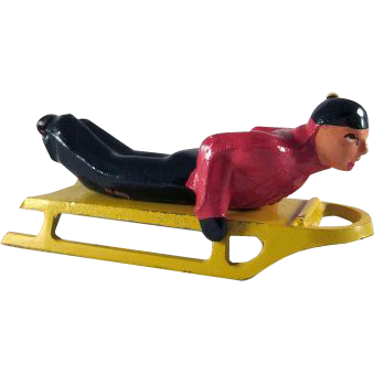 Barclay Winter Series Boy on Sled 2 Pieces