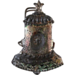 Early Tin Figural Bell Candle Clip For the Christmas Tree