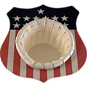 Fourth of July, Patriotic Shield Nut Cup