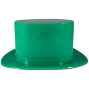 St. Patrick's Day Hard Plastic Leprechaun Hat Candy Container