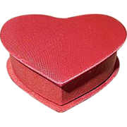 Satin Covered Heart Valentine Box Made in Japan