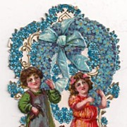 Children Build a Forget Me Not Wreath Fold Out Germany Valentine
