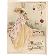 'Valentine Thoughts' Single Fold Lovely Lady Germany Valentine