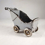 "Kilgore 3/4"" Baby Buggy/Stroller Dollhouse Furniture"