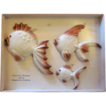 MCM Scandinavian Cast Aluminum Fish Plaques in the Original Box