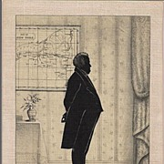 Silhouette on Linen DeWitt Clinton Picture
