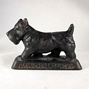 Figural Cast Iron Scottie Dog 'Hamilton Foundry' Paperweight