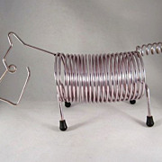 MCM Figural Scottie Dog Wire Letter Holder