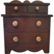 Primitive Stained Wooden Sewing Table Top Chest
