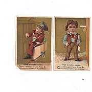 2 Trade Cards Kenny's Fine Confections Newark N.J.
