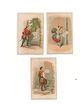 3 Trade Cards Excelsior Starch and Elkhart Paper Pails