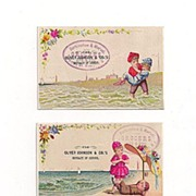 3 Trade Cards Burkinshaw and Marvel Grocers, Oliver Johnson Extract
