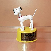 Walt Disney Productions Pongo From 101 Dalmatians Push Puppet HTF