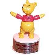 Winnie The Pooh Walt Disney Productions Push Puppet