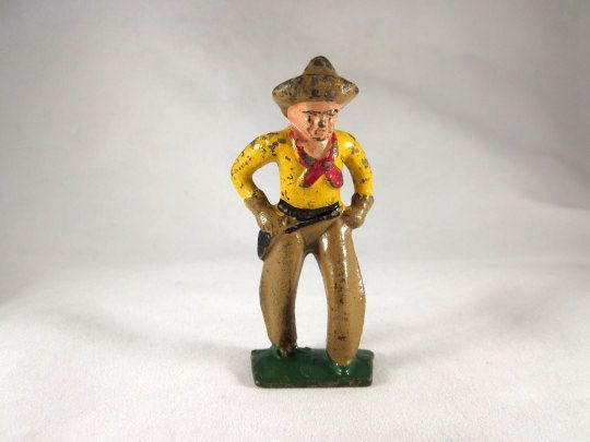 Grey Iron Cowboy Cast Iron Figure