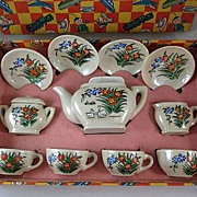 Child's Made in Japan Lustre Tea Set in Original Box