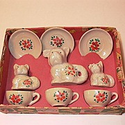 Scottie Dog Made in Japan Tea Set in Original Box