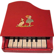 1930s Wooden Schoenhut Child's or Doll's Grand Piano
