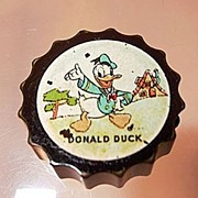 Walt Disney Donald Duck Green/Brown Bakelite Pencil Sharpener