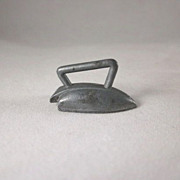 Cast Metal Streamlined Sad Iron Dollhouse Accessory