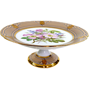 Ed. Honore Porcelain  19th Century Old Paris Porcelain Floral Gilt Tazza