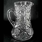 EAPG Glass Pitcher Toltec Pattern McKee Brothers 1903
