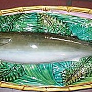 Majolica George Jones  Trout  Tureen