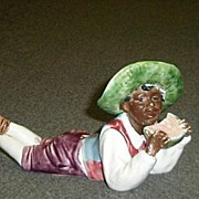 Majolica Black Folk Art  Boy