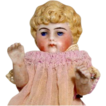 German All-Bisque Little Doll #170  Blonde Molded Hair