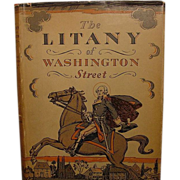 """The Litany of Washington Street"" ,Vachel Lindsay, 1st Ed"