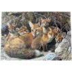 Signed & Numbered &quot;Full House Fox Family&quot; by Carl Brenders Limited Edition  .