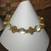 SALE ~Royalty Collection~Green Quartz 22K Vermeil Bracelet