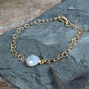 SALE Moonstone Quartz Cabochon Gemstone Bracelet