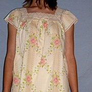 Vintage 1960 Barbizon Seraphim Batiste Flowers Baby Doll Nighty Set NEW NWT NOS Size S / M