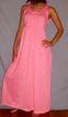 Vintage 1970 Loungees Vibrant Pink Long Nightgown NEW NOS Size medium