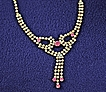 Vintage Pink and AB Rhinestone Necklace ~Aurora Borealis