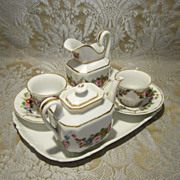 Child Size Paris Porcelain Tea Set - Handpainted - Circa 1870