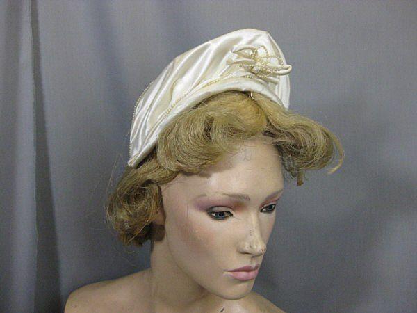 B2184E Vintage bridal headpiece veil 1940s vintage