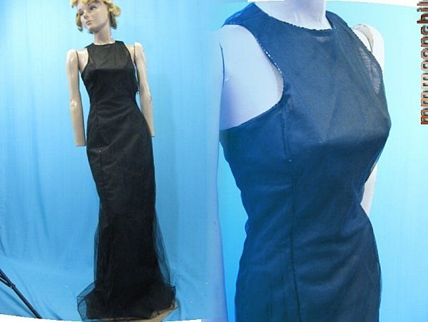 B2679 Vintage dress Carolina Herrera SAMPLE dress gown Silk