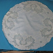 Antique lace tablecloth runner Victorian era