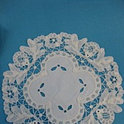 B2687 Handmade lace doily set 11pc Princess Battenberg