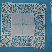 B2686 Antique doily set 12 pc cocktail size Needle lace