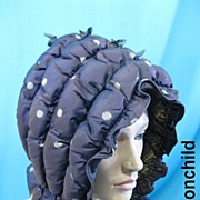 B2685 Antique hat bonnet Victorian Civil War era silk