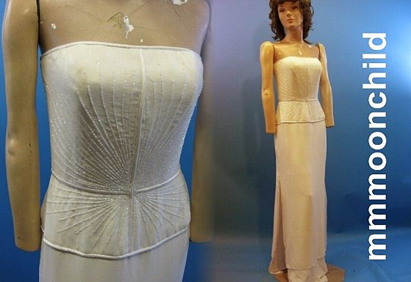 B2449 Vintage dress designer Donald Deal evening 1980s